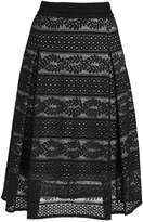 Cream JOVANNA Aline skirt pitch black