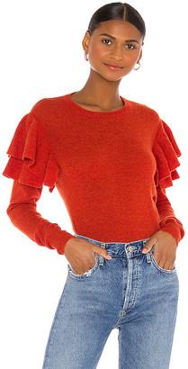 Autumn Cashmere Double Ruffle Crew Sweater
