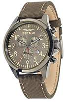 Sector No Limits 180 Men's Quartz Watch with Grey Dial Chronograph Display and Brown Leather Strap R3271690021