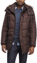 Andrew Marc Real Coyote Fur Trim Jacket