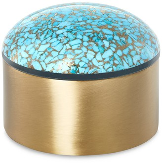 Kendra Scott Antique Brass Plated Decorative Dome Box