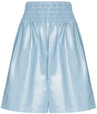 Bottega Veneta Knee-Length Shiny Leather Shorts
