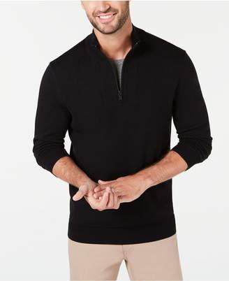 Alfani Men Quarter-Zip Ribbed Placket Sweater