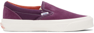 Vans Purple Suede OG Classic Slip-On Sneaker
