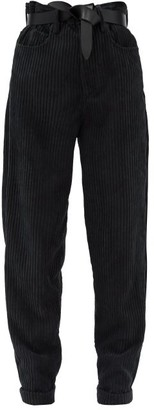 Etoile Isabel Marant Decorsy High-rise Tapered Corduroy Trousers - Grey