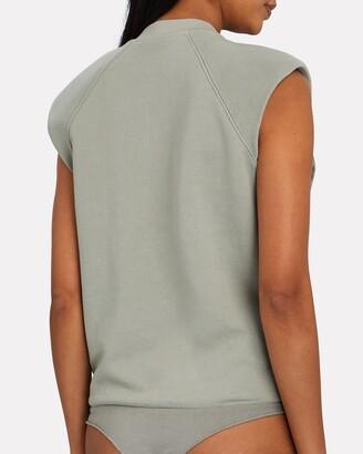 JONATHAN SIMKHAI STANDARD Channing Padded Shoulder Bodysuit