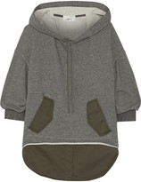 3.1 Phillip Lim Layered Cotton-blend And Jersey Hooded Top - Gray