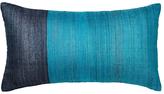 west elm Sari Woven Silk Cushion, Blue/Teal