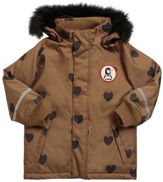 Mini Rodini Heart Printed Nylon Ski Jacket