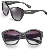 Dolce & Gabbana 55mm Matte Cat-Eye Sunglasses