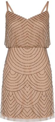 Adrianna Papell Blouson Bead Dress