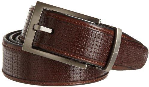Geoffrey Beene Men's Woven Inlay Reversible Belt