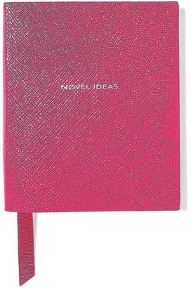 Smythson Premier Printed Textured-leather Notebook