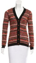 M Missoni Patterned Button-Up Cardigan w/ Tags