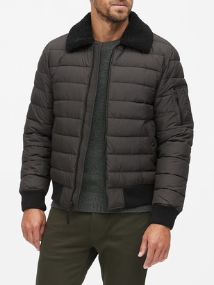Banana Republic Water-Resistant Quilted Bomber Jacket