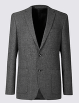 Autograph Wool Blend Tailored Fit 2 Button Jacket