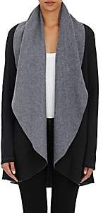 Barneys New York WOMEN'S RAPU FLEECE CARDI SWEATER-BLACK SIZE S
