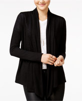 Amy Byer Juniors' Open-Front Waterfall Cardigan