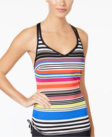 Jag Reactive Striped Underwire D-Cup Tankini Top