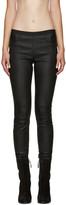 Helmut Lang Black Skinny Leather Pants