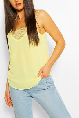 boohoo Lace Insert Woven Cami