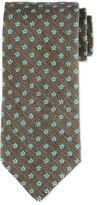 Eton Neat Foulard Silk Tie, Charcoal