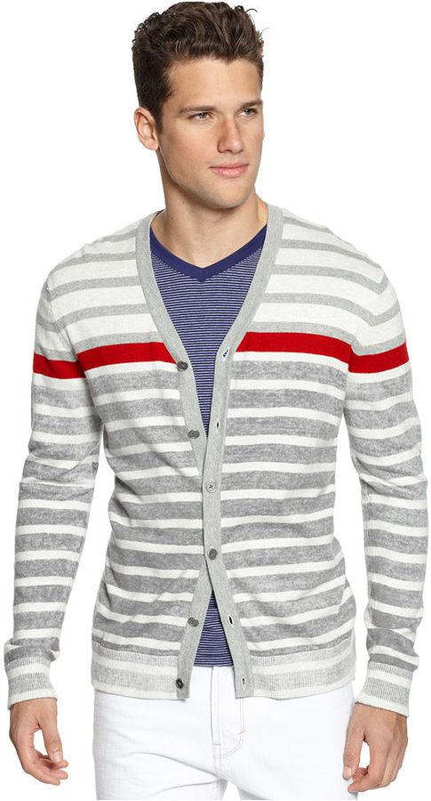 Bar III Sweater, V-Neck Cardigan