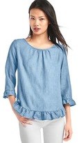 Gap Tencel® ruffle hem top