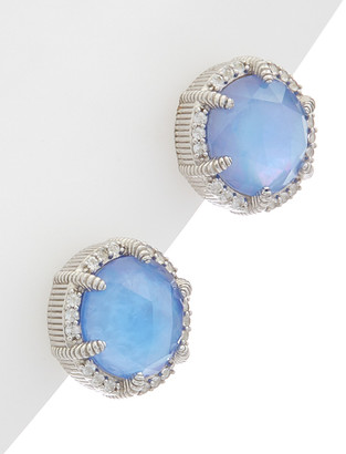 Judith Ripka Eclipse Silver 7.37 Ct. Tw. Gemstone Doublet Studs