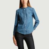 A.P.C. Paris Paris - Chambray Cotton Zola Shirt - 36 | cotton | chambray - Chambray