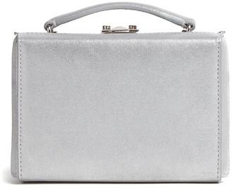Mark Cross Mini Grace Metallic Leather Top Handle Bag