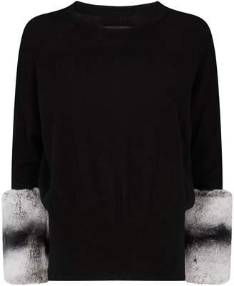 Izaak Azanei Wool-Cashmere Rabbit Fur Sweater