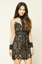 Forever 21 FOREVER 21+ Lace Mock Neck Bodycon Dress