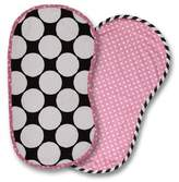 Bacati 2-Piece Dots/Pin Stripes with Pink Pin Dots Burpies Set