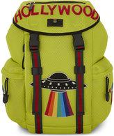 Gucci Green Slogan Hollywood Neon Mesh Backpack