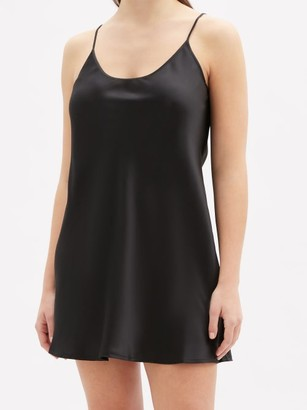 La Perla - Semplice Silk-satin Slip Dress - Black