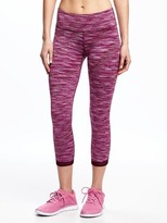 Old Navy Go-Dry Cool Mid-Rise Space-Dye Cropped Leggings for Women