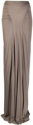 Rick Owens Lilies Ruched Detail High-Waisted Skirt