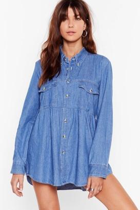 Nasty Gal Womens Vintage So Good It Shirts Denim Dress - Blue