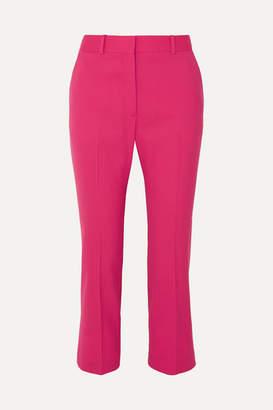 Altuzarra Adler Cropped Stretch-wool Flared Pants - Bright pink