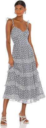 Rebecca Taylor Sleeveless Petula Ruffle Dress