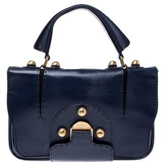 Fendi Navy Patent leather Handbags