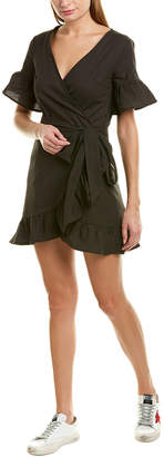 CHARLIE HOLIDAY Charlie Holiday Vacay Linen-Blend Wrap Dress
