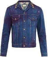 Gucci Tiger-print denim jacket