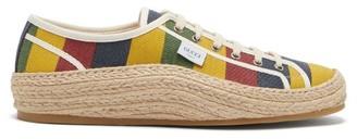 Gucci Baiadera-striped Canvas Espadrille Trainers - Multi