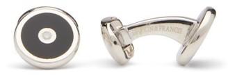 Deakin & Francis Round Onyx & Sterling-silver Cufflinks - Black