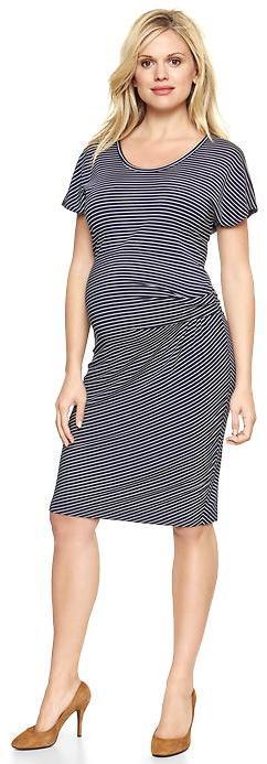 Gap Striped twist-waist dress