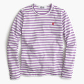 Comme des Garcons striped heart T-shirt