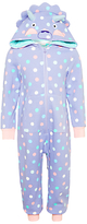 John Lewis Children's Dinosaur Sweatshirt Onesie, Purple