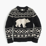 J.Crew Boys' polar bear Fair Isle crewneck sweater